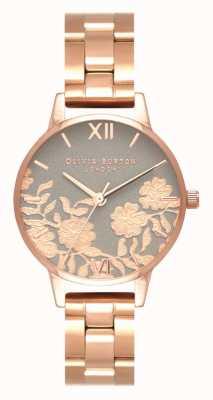 Olivia Burton | mulheres | mostrador de detalhes de renda | pulseira de ouro rosa | OB16MV88
