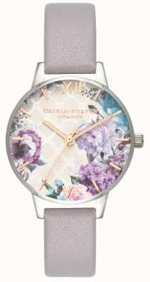 Olivia Burton | mulheres | estufa pulseira de couro cinza lilás | OB16EG104