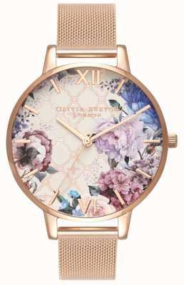 Olivia Burton | mulheres | estufa pulseira de malha de ouro rosa | OB16EG86