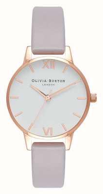 Olivia Burton | mulheres | alça lilás cinza | mostrador branco | OB16MDW32