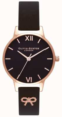 Olivia Burton | mulheres | mostrador preto | alça preta vintage arco | OB16VB07