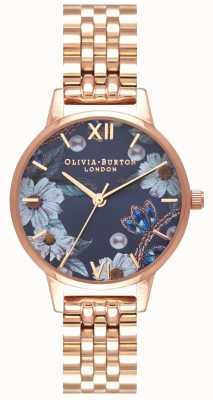 Olivia Burton   mulheres   flores de bejeweled   pulseira de ouro rosa   OB16BF17