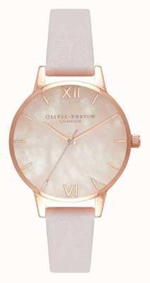 Olivia Burton | mulheres | semi precioso | pulseira de couro de flor | OB16SP02