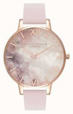 Olivia Burton | mulheres | semi precioso | pulseira de couro em flor | OB16SP03