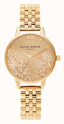 Olivia Burton | mulheres | rendas bejeweled | pulseira de tom de ouro | OB16MV105