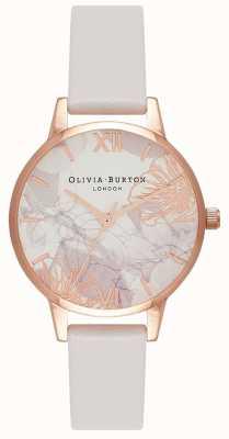 Olivia Burton   mulheres   flores abstratas   pulseira de couro blush   OB16VM12