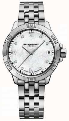 Raymond Weil | tango feminino | diamante set dial | pulseira de aço inoxidável 5960-ST-00995