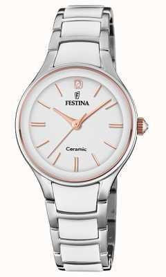 Festina | cerâmica de mulher | pulseira de prata / branco | rosa de ouro / branco F20474/2