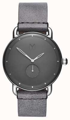 MVMT Revólver Gotham | pulseira de couro cinza | mostrador cinza D-MR01-SGR