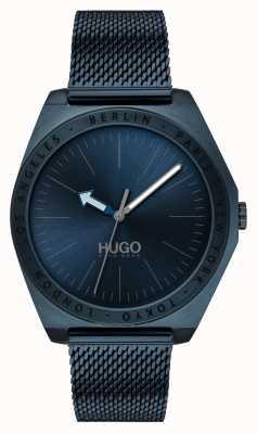 HUGO #act | malha azul do ip de <br> Não Perca! mostrador azul 1530109