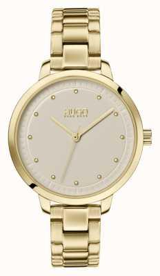HUGO #achieve | pulseira de ouro ip | mostrador de champanhe 1540039