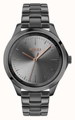 HUGO #fearless | pulseira cinza ip | mostrador cinza 1540042
