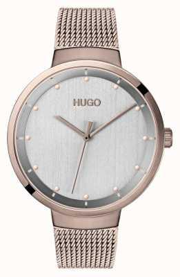 HUGO #go | ouro cor-de-rosa de <br> Não Perca! mostrador cinza 1540004