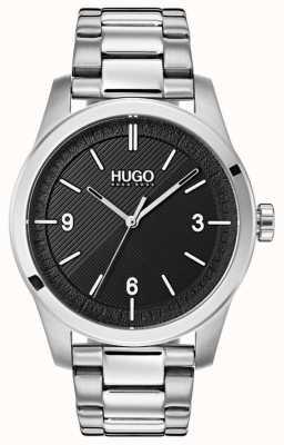 HUGO #create | pulseira de aço inoxidável | mostrador preto 1530016