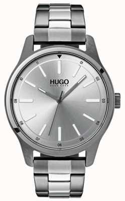 HUGO #dare | pulseira de aço inoxidável | mostrador prateado 1530021