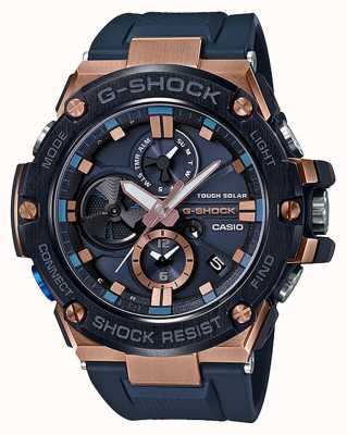 Casio | g-shock | g-aço | bluetooth | cronógrafo | azul | GST-B100G-2AER