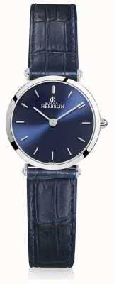 Michel Herbelin | mulheres | épsilon | pulseira de couro azul | mostrador azul | 17106/15BL