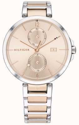 Tommy Hilfiger | pulseira de aço inoxidável de dois tons para mulher | mostrador corado | 1782127