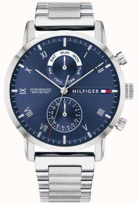 Tommy Hilfiger Kane pulseira de aço inoxidável | mostrador azul | 1710401