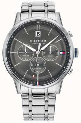Tommy Hilfiger | pulseira de aço inoxidável para homem | mostrador cinza | cronógrafo | 1791632