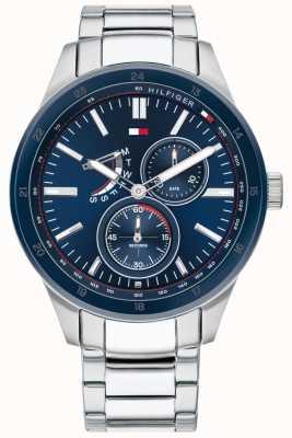 Tommy Hilfiger | Austin masculino | pulseira de aço inoxidável | mostrador azul | 1791640