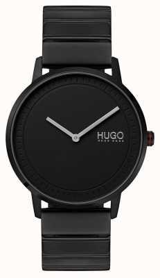 HUGO #echo | pulseira preta ip | mostrador preto 1520020
