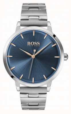 Boss | marina das mulheres | pulseira de aço inoxidável | mostrador azul | 1502501