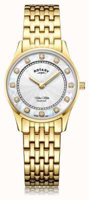 Rotary | pvd de ouro ultra fino para mulher | mãe de discagem pérola LB08303/41/D