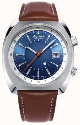 Alpina | herança piloto startimer | automático | couro marrom | AL-555LNS4H6