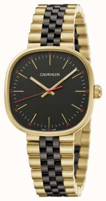 Calvin Klein | de homem | honestamente | pulseira de dois tons | mostrador preto | K9Q125Z1