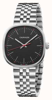 Calvin Klein   de homem   honestamente   pulseira de aço inoxidável   mostrador preto   K9Q12131