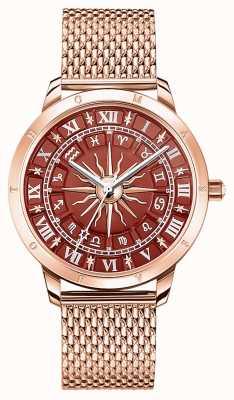 Thomas Sabo | astro glamour feminino | mostrador vermelho | malha de ouro rosa | WA0353-265-212-33
