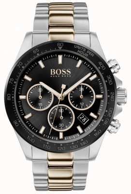 BOSS | de homem | herói esporte lux | pulseira de dois tons | mostrador preto | 1513757