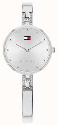 Tommy Hilfiger | kit de mulheres | pulseira de aço inoxidável | mostrador prateado | 1782137