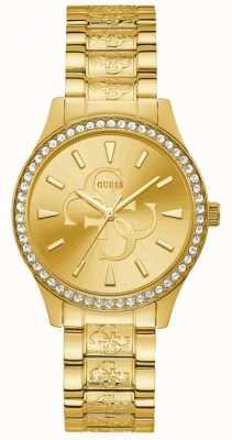 Guess | anna para mulher | pulseira de metal dourado | mostrador de champanhe | W1280L2