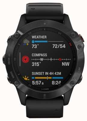 Garmin Fenix 6 pro   smartwatch multidesporto   pulseira de borracha preta 010-02158-02