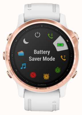 Garmin Fenix 6s pro   smartwatch multidesporto   pulseira de ouro rosa branca 010-02159-11