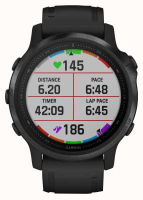 Garmin Fenix 6s pro gorilla glass | smartwatch multidesporto | pulseira de borracha preta 010-02159-14