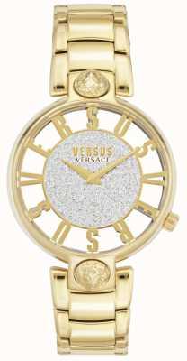 Versus Versace | kirstenhof para mulher | pulseira banhada a ouro | mostrador de brilho VSP491419
