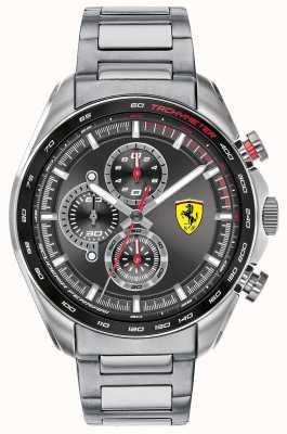 Scuderia Ferrari | piloto de velocidade masculino | pulseira de aço inoxidável | mostrador preto 0830652