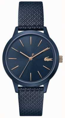 Lacoste 12.12 mulheres | pulseira de couro azul | mostrador azul | 2001091