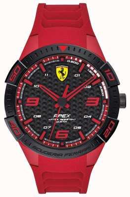 Scuderia Ferrari | ápice dos homens | pulseira de borracha vermelha | mostrador preto / vermelho | 0830664