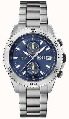 Boss | vela | cronógrafo | pulseira de aço | mostrador azul | 1513775