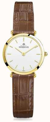 Michel Herbelin | mulheres | epsilon | pulseira de couro marrom 17106/P11GO