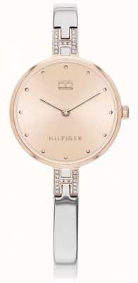 Tommy Hilfiger | kit de senhora | pulseira de aço inoxidável | mostrador em ouro rosa | 1782138