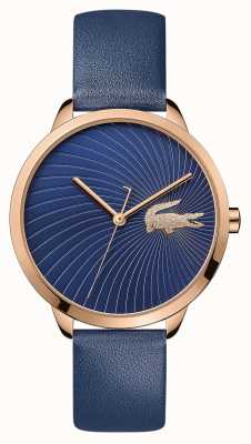 Lacoste | lexi para mulher | pulseira de couro azul | mostrador azul | 2001058
