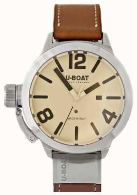 U-Boat Classico 50 tungsteno como 2 creme dial 8091