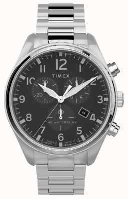 Timex | waterbury chrono tradicional 42mm | aço inoxidável TW2T70300