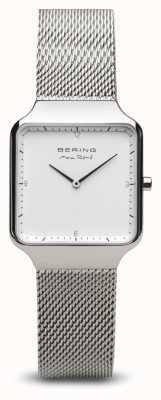 Bering | max rené | prata polida para mulher | pulseira de malha de aço | 15832-004