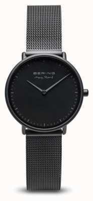 Bering | max rené | tapete de senhora preto | pulseira de malha de aço preto | 15730-123